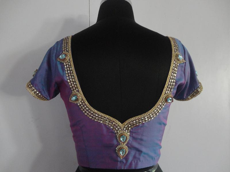 jewellery work blouse design