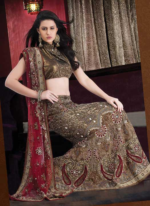 Antique-gold-bridal-lehenga