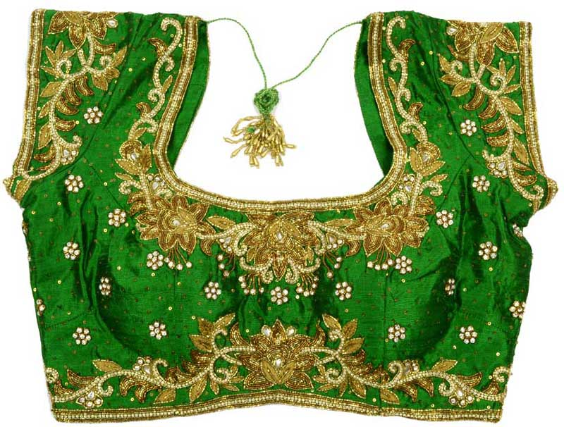Green-bridal-designer-blouse