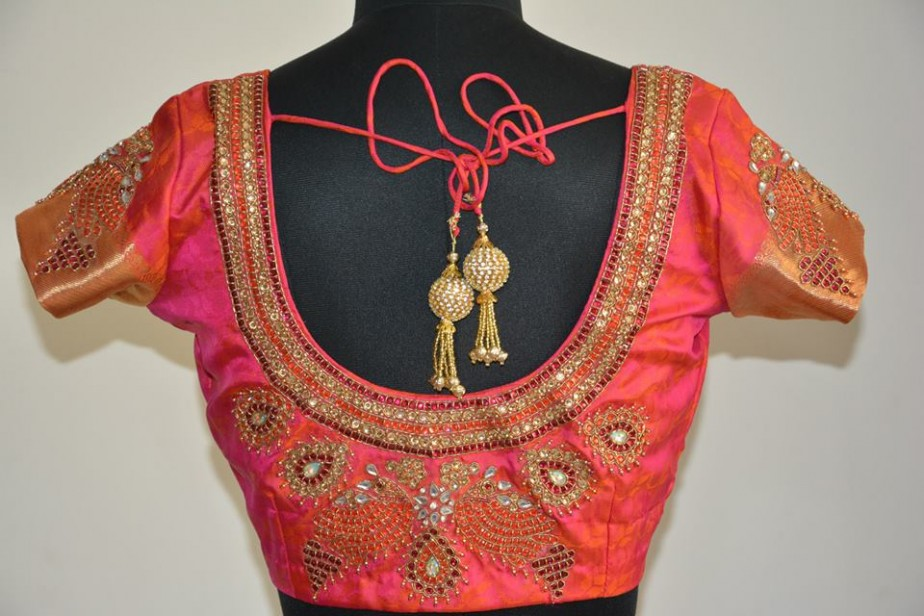 Heavy-stone-work-blouse-design