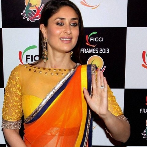 Kareena-Kapoor-in-yellow-boat-neck-blouse