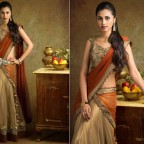 Antique-Gold-half-Saree