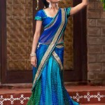 Blue-half-Saree