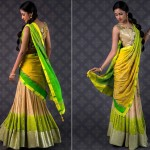 Green-yellow-half-Saree