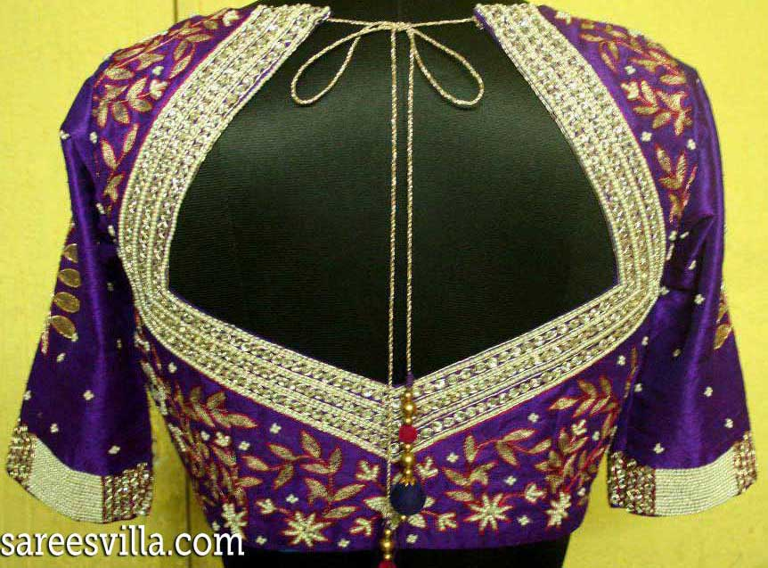 Latest-maggam-work-on-blouse
