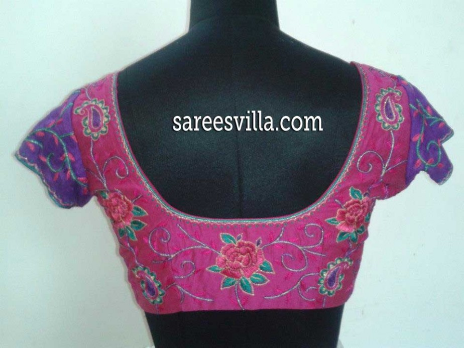 simple-maggam-work-blouse