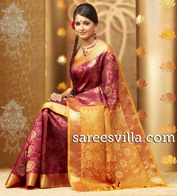 Anushka-Shetty-Pattu-Saree