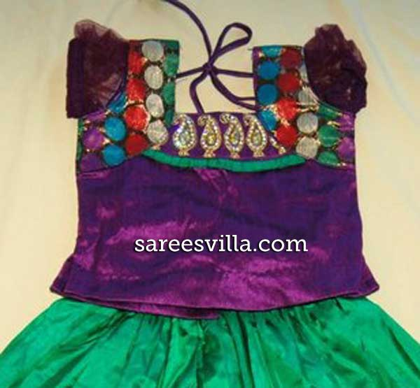 Mango-work-kids-lehenga-blouse