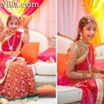 Pink Shaded Half Saree