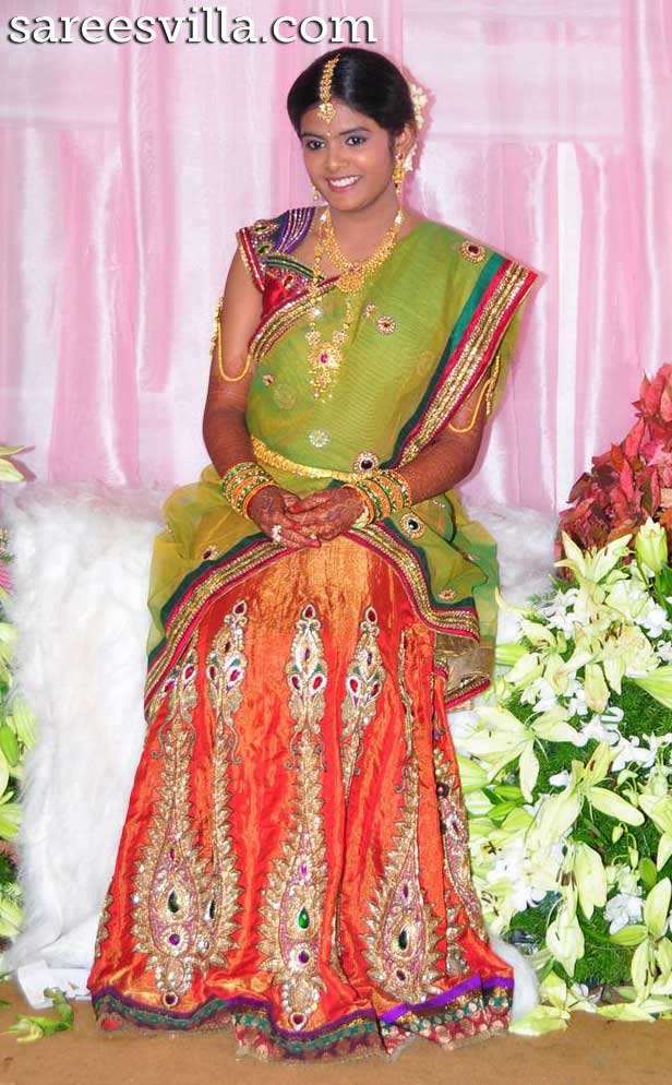 Puri Jagannath Daughter Half Saree