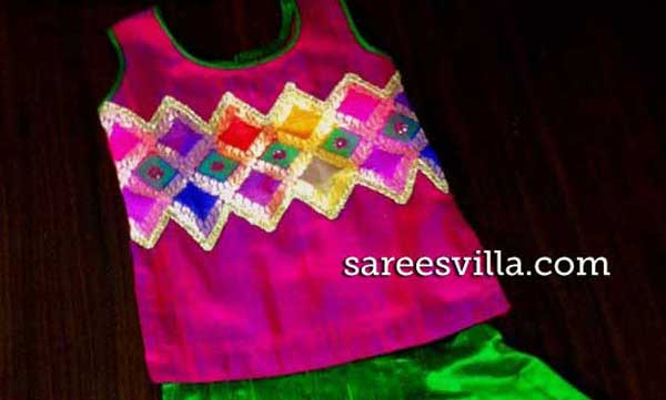 Raw-silk-Kids-Lehenga-blouse