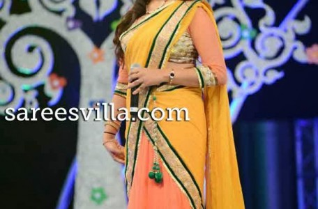 Geetha in Designer Half Saree