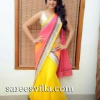 Shraddha Das in yellow pink half saree