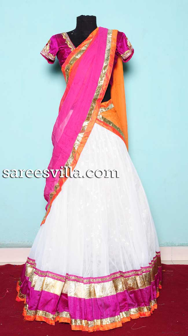 Pretty Designer Half Saree