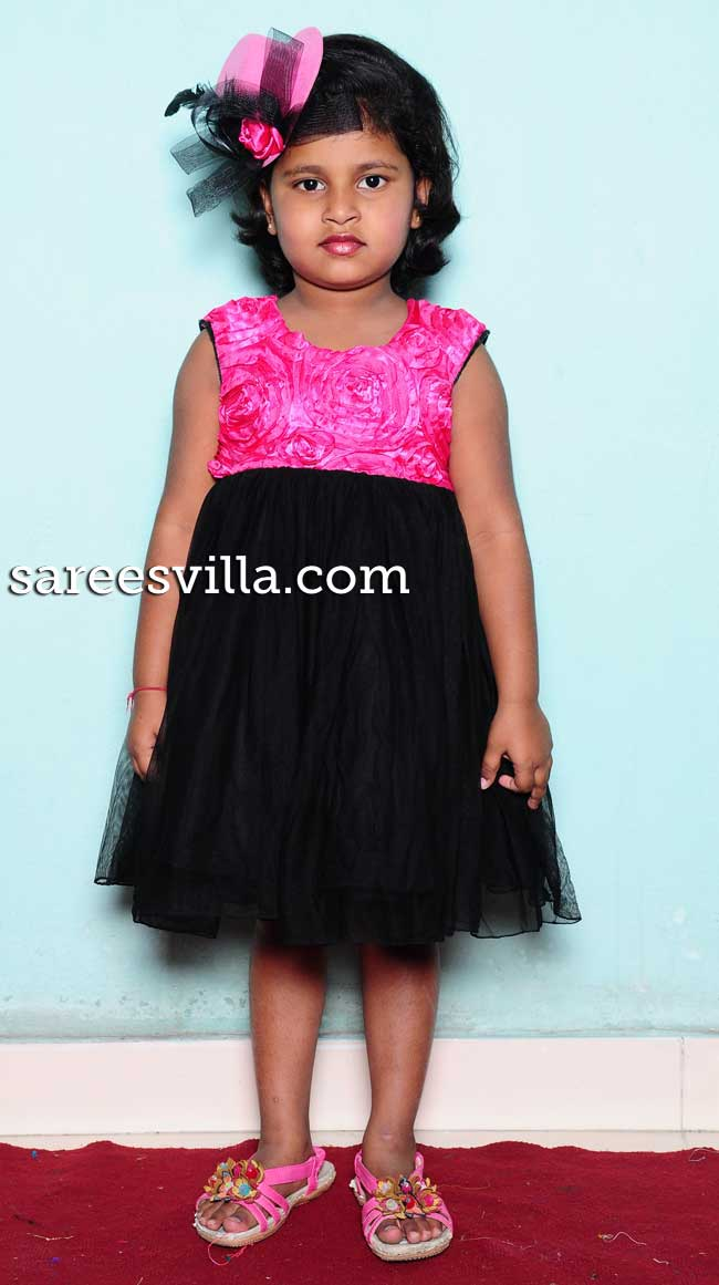 Pink and black frock