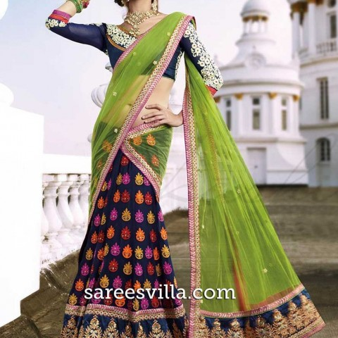 fabulous-green-embroidered-lehenga-saree