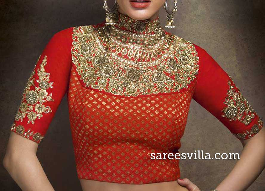 maharani wedding saree blouse design