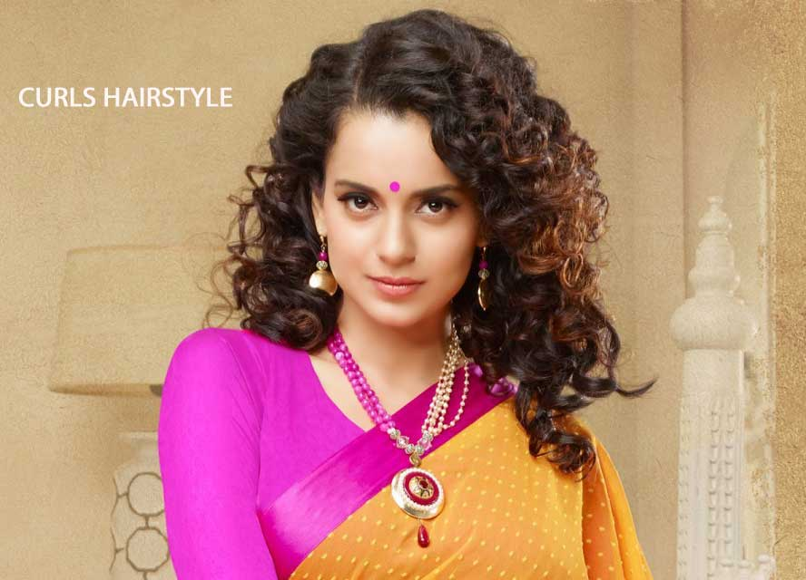 Hairstyles For Curly Hair With Saree : Best hairstyles to complement your saree sarees villa