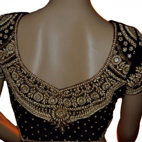 Maggam Work Embroidery Blouse with Beads