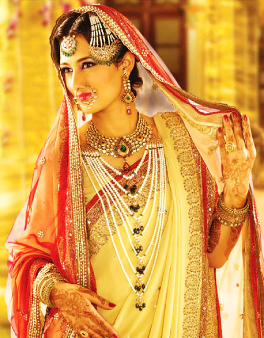 indian marriage necklace Bridal jewellery, indian wedding - informative & researched article on bridal jewellery, indian wedding from indianetzone, the largest free encyclopedia on india.