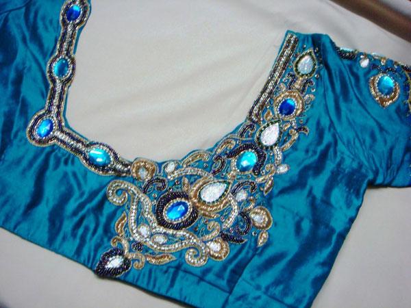 Kundan-maggam-work-blouse