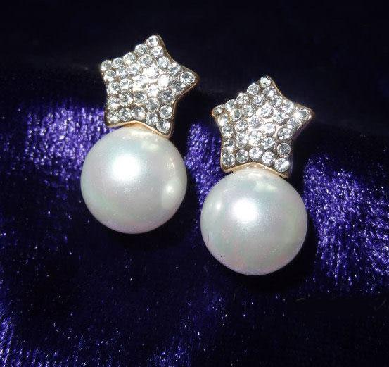 star-pearl-drop-earrings