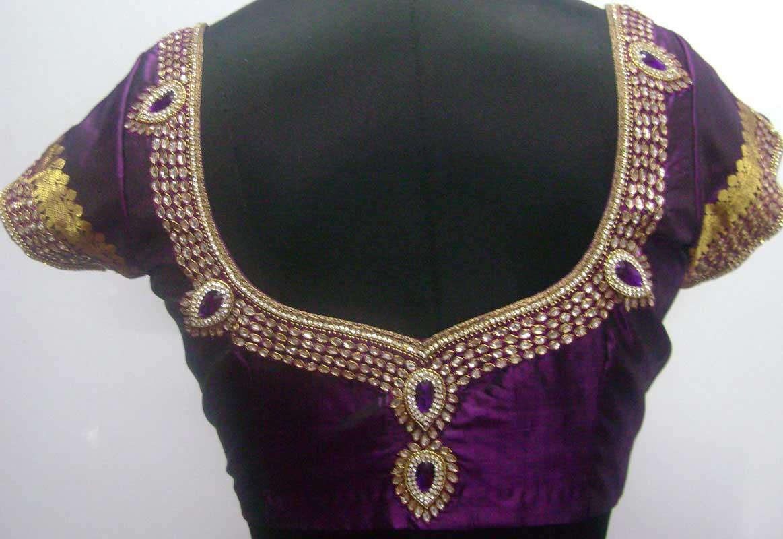 jewellery work blouses sarees villa
