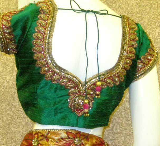 Green-Designer-blouses