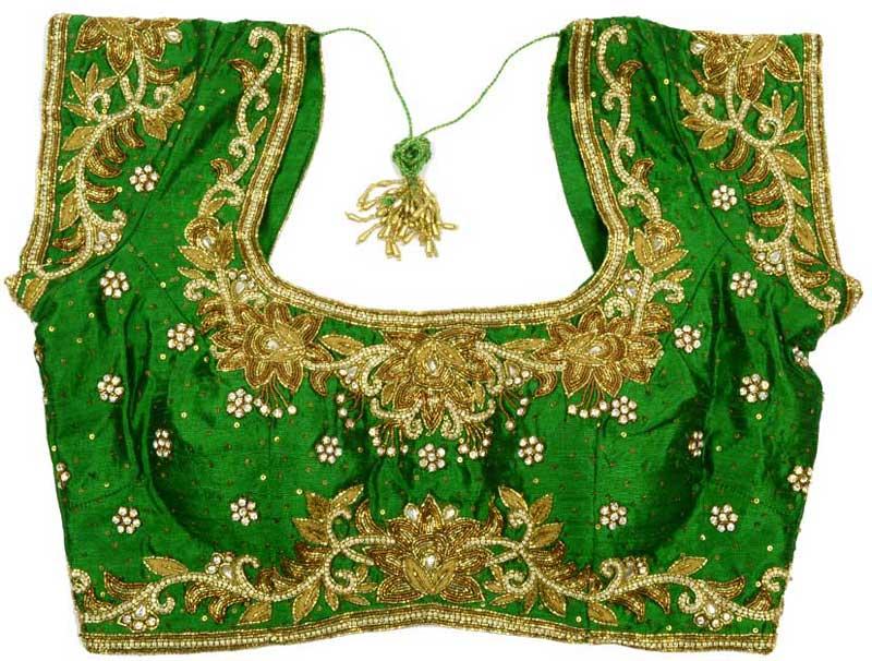 Green-bridal-designer-blouse