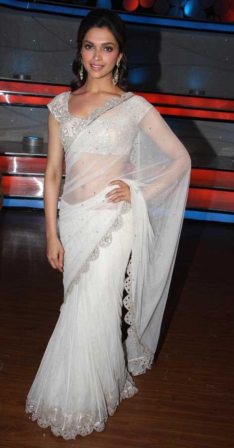 White Saree Tamanna In Veeram: Deepika Padukone White Saree