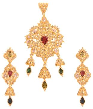 designer-Uncut-pearl-emerald-drop-pendant
