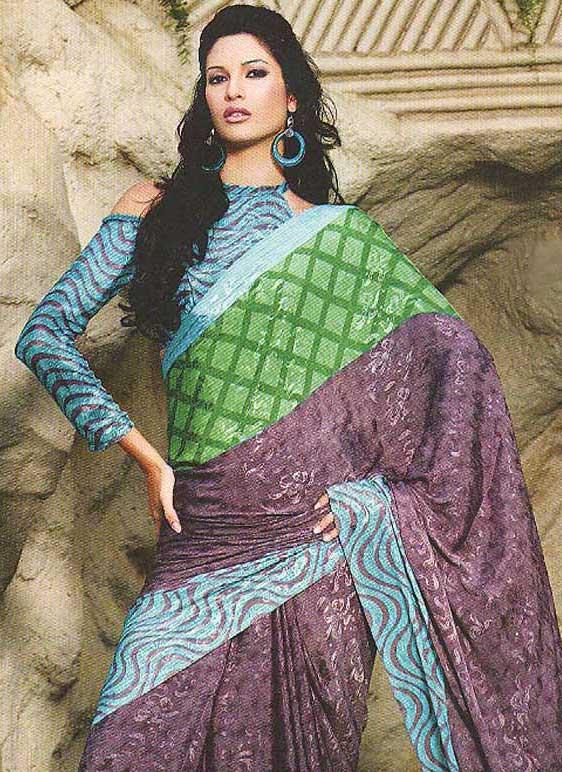 Model in Designer Full Sleeve Blouse