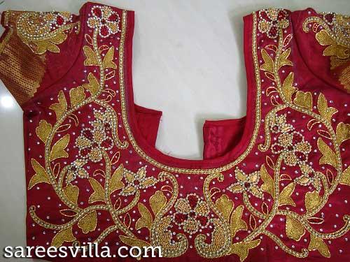 Marron-work-blouse