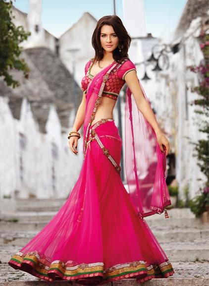 model- half- saree