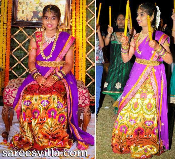Banaras Half Saree