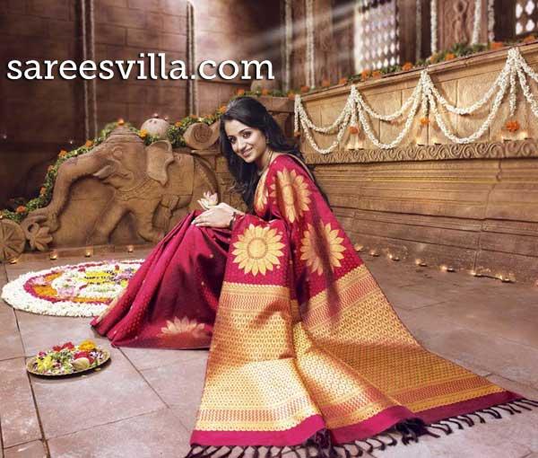 Trisha-Pattu-Saree
