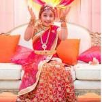 Pink Designer Half Saree