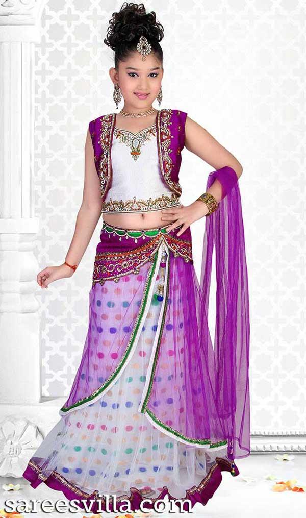 Purple-White-Lehenga-Choli