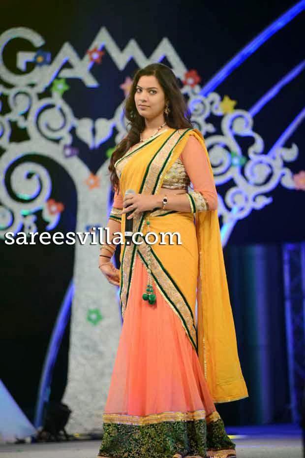 Geetha in Designer Half Saree