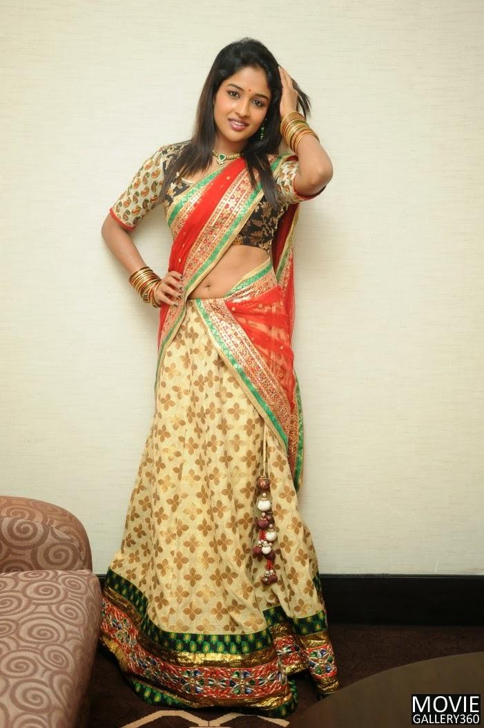 Actress in Half saree