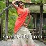 kajal Agarwal in Cream Half Saree