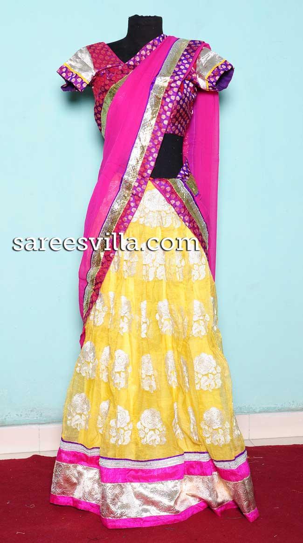Designer Party Wear Half Saree