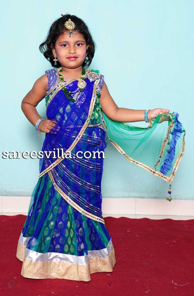 Kids Designer Lehenga Saree