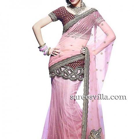 Baby-Pink-Lehanga-Saree-sareesvilla