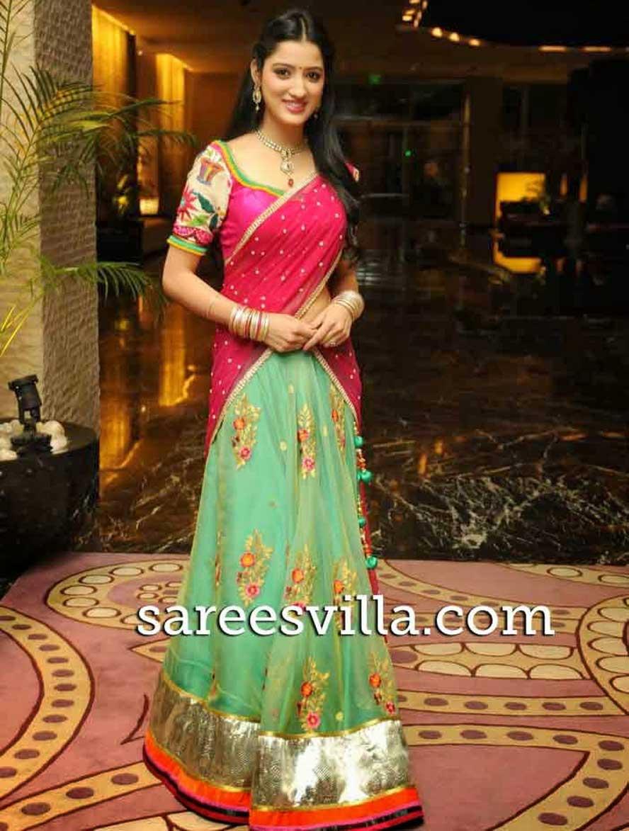 Online Shopping Of Designer Half Sarees