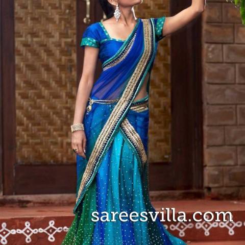 half-sarees