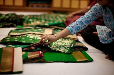 Picking Silk Sarees