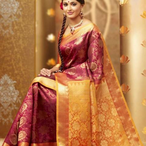 Anushka Shetty in Silk Saree