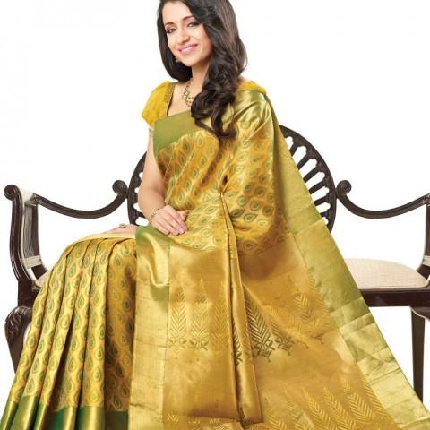 Trisha in Silk Saree