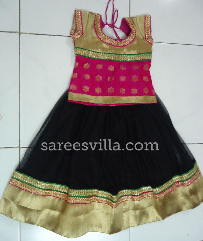 Black & Pink Designer Lehenga